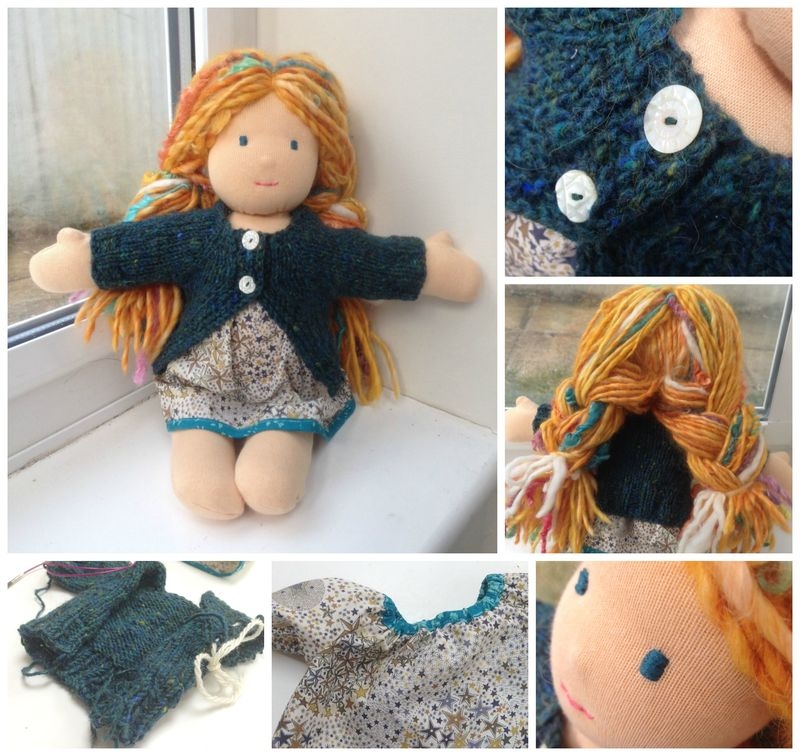 Persephone doll collage
